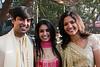 Janit, Jaina & Poorva<br /> gathering at Diamond Garden before proceeding to the wedding venue