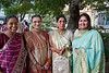 Swati, Urvashi, Swarup & Jayshree<br /> gathering at Diamond Garden before proceeding to the wedding venue.
