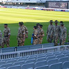 For some reason, a bunch of Aussie soldiers were present - expecting problems from the victorious English ashes winners no doubt!