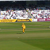 Brett Lee fires in the first ball of the game at about 90mph