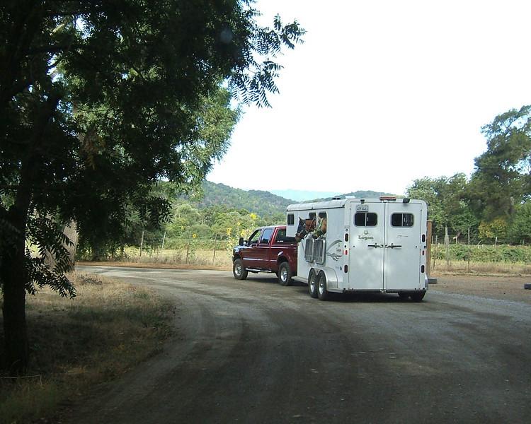 Driving into Webb Ranch