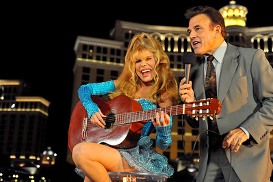 "Photo shoot for making of PBS Special ""The Best Of Entertainment Las Vegas Style"" starring Charo and Tony Sacca with many famous guest music stars from the past like Bobby Darin  - by Mark Bowers Photographer Copyright, All RIghts Reserved."