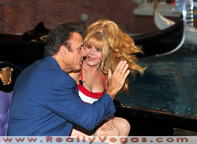 "Photo shoot for making of PBS Special ""The Best Of Entertainment Las Vegas Style"" starring Charo and Tony Sacca with many famous guest music stars from the past like Bobby Darin"