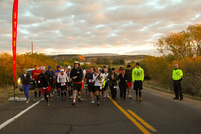Escalante Canyons Marathon The beautiful Sunrise start of our Marathon made for some great Imagery and Amazing views for our runners. GO!!!