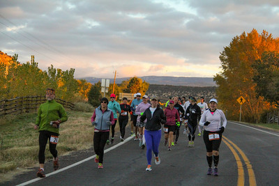 Escalante Canyons Marathon The beautiful Sunrise start of our Marathon made for some great Imagery and Amazing views for our runners.