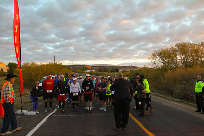 Escalante Canyons Marathon The beautiful Sunrise start of our Marathon made for some great Imagery and Amazing views for our runners. RUNNERS ON YOUR MARK,..
