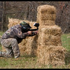 Uhhhh Danny, If you take the gun out of the hay bale it'll shoot better