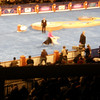 An out of focus Tory entering the group ring