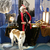 The Borzoi booth won a fourth prize out of all the breed booths