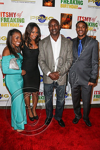 HOLLYWOOD, CA - OCTOBER 19:  Boxer Evander Holyfield (2R) and family arrive at the after party for Evander Holyfield's 50th birthday celebration on October 19, 2012 in Hollywood, California.  (Photo by Chelsea Lauren/WireImage)