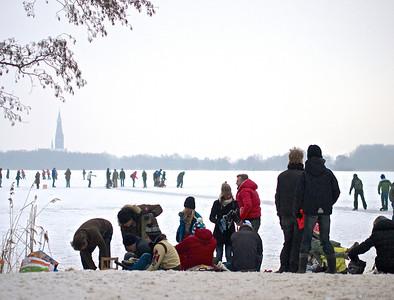 Poel, de Poel schaatsen winter 2012/2013
