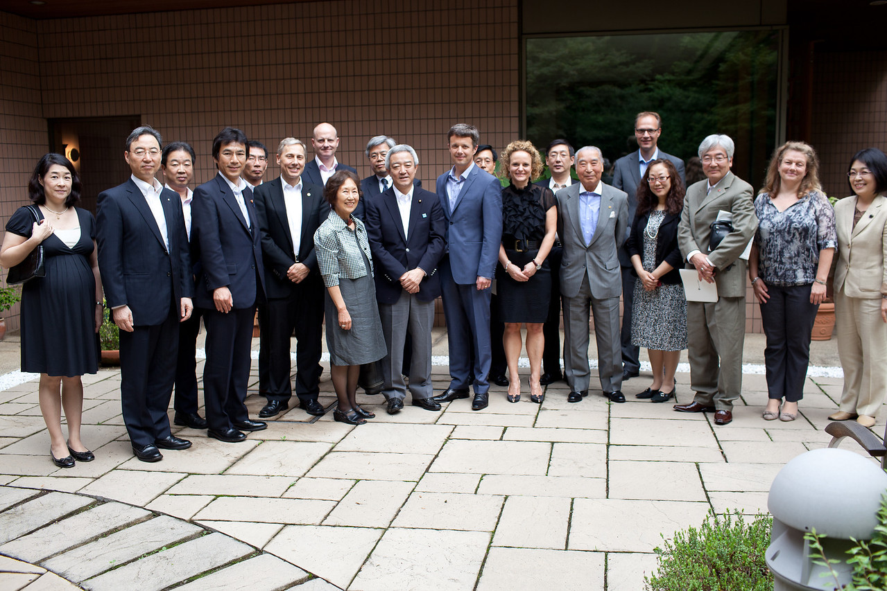 On June 13, 2011, HRH Crown Prince Frederik attended a private meeting at the residence with participation of the Cabinet Minister for Disaster Relief, Minister Matsumoto, and his staff members as well as representatives from the affected areas in Tohoku, selected NGO's and private companies and individuals engaged in the disaster relief efforts.