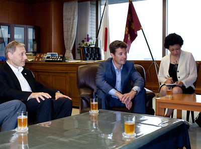 On June 13, 2011, HRH Crown Prince Frederik visited the Japanese Self Defense Forces to learn of their actions and offer his support and recognition of their efforts in connection with the triple disaster in the Tohoku region on March 11, 2011.