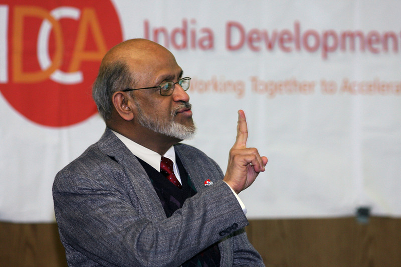 Sriram Sonty, MD speaking at an India Development Coalition of America Conference