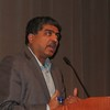 Nandan Nilekani on a panel at the Art Institute of Chicago