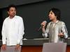Shrikanth & Master Kishan at India Development Service 2009 Symposium, Loyola Medical School, Maywood (Chicago), Illinois.