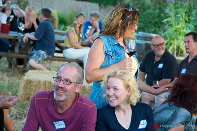 The wine flowed and the conversations were captivating. Sonoma Meetup at Michel Schlumberger