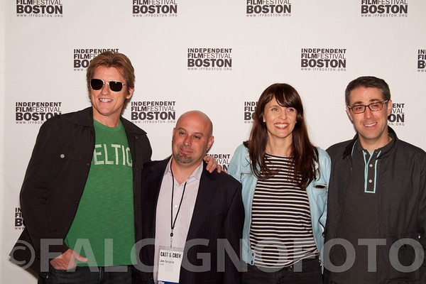 Denis Leary with Cast & Crew of Burn.