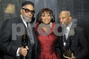 Kenneth Gamble is joined by Patti Labelle and partner Leon Huff  as they were inducted into the  Rock and Roll Hall of Fame in New York on Monday, March 10, 2008<br /> (AP Photo/Earl Gibson III)