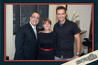 Pedro Perez (Andaz, General Manager), Sarah Jones (South Magazine, Associate Editor), Michael Brooks (South Magazine, Publisher/Creative Director)