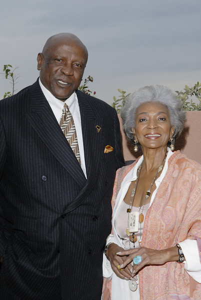 Actor Lou Gossett Jr. and Nichell Nichols (Uhura of Star Trek Fame)