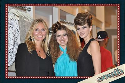 Stephanie Duke-Andrews, Founder and Director, Halo Models & Talent Group; Caroline Molloy, Model; Jessica Green, Mode