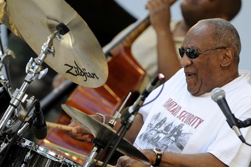 "Bill Cosby lives his dream of playing the drums with his Jazz group ""Cos of Good Music""  at the  ""Playboy Jazz Festival"" 30th Anniversary on Saturday, June 14, 2008<br /> in  Los Angeles, CA<br /> (AP Photo/Earl Gibson III)"