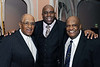 """Earvin """"Magic"""" Johnson is joined by (left) Don Newcombe of the L.A. Dodgers and Willie D. Davis (right) formerlly of the Green Bay Packers. Earvin """"Magic"""" Johnson was being honored by the Southern California Minority Business Developement Council for his outstanding dedication and work within the community on Friday October 17, 2008 in Los Angeles, CA<br /> (AP Photo/Earl Gibson III)"""