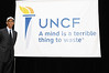 Dr. Michael L. Lomax, UNCF President & CEO helps to kick-off the  unveiling of the new brand identity and logo  on the campus of Spelman College in Atlanta, Georgia on Thursday, Jan. 17, 2008<br /> (AP Photo/Earl Gibson III)