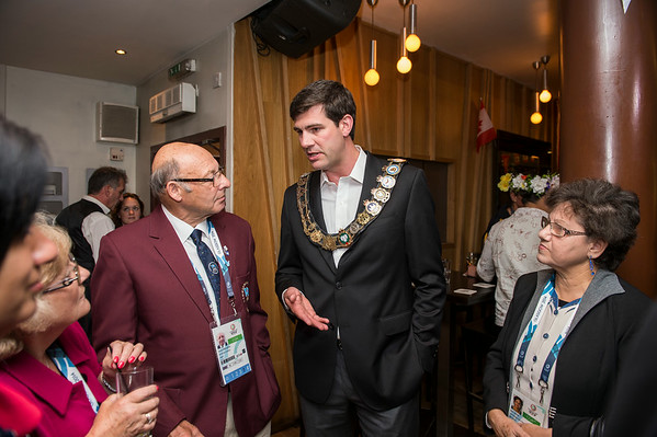Edmonton 2022 Commonwealth Games bid team host a Mayor's reception at Bar Bacchus in Glasgow.