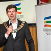 Edmonton 2022 Commonwealth Games bid team host a Mayor's reception at Bar Bacchus in Glasgow.  Edmonton Mayor Don Iveson addresses delegates at the XX Commonwealth Games.