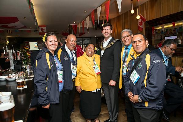 Edmonton 2022 Commonwealth Games bid team host a Mayor's reception at Bar Bacchus in Glasgow.
