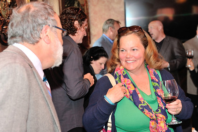 Patti Simmens of Waterford chats with Doug Fabbioli