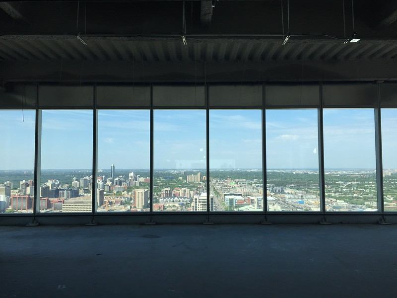 A panoramic view from the 25th floor of Edmonton Tower.