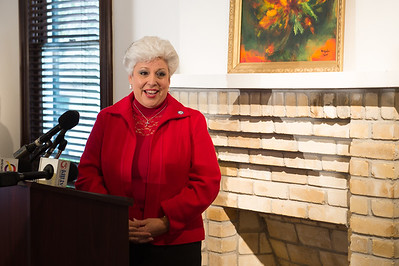 Mayor Nelda Martinez, speaks during the C-Span press conference in the Galvan House in Corpus Christi, Tx.