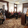Ashley Hill(right), with C-SPAN, during the press conference in the Galvan House, In Corpus Christi, Tx.