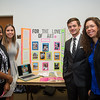 Keona Brown (left) ,Veronica Brewer, Travis Killian and Emily Barrera enjoy their time at Guerilla Marketing Poster.