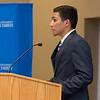 """SGA president Angel Monjarraz, speaks during the State of the Student Government in  the Anchor Ballroom. <a href=""""https://flic.kr/s/aHskaQiri6"""">https://flic.kr/s/aHskaQiri6</a>"""