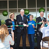 Dr. Flavius Killebrew, President of TAMU-CC un-links the chains during the grand re-opening of the university center.