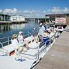 Texas A&M Corpus Christi Aquatic Education Program Director, Jay Tarkington goes through safety rules before takeoff