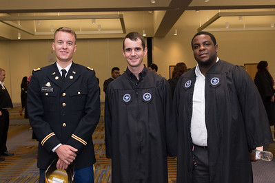 Science & Engineering graduates Cody McMillan(left) Tyler Priour and Escombe Elad. Saturday August 8, 2015 at the TAMU-CC Summer Commencement ceremony.