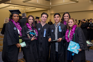 TAMU-CC graduates Esther Anyaorah(left), Adrianna Valles, Christopher Amaya, Mark Ruiz, Mary Allman and Edith Marcelin. Saturday August 8, 2015 at the TAMU-CC Summer Commencement ceremony.