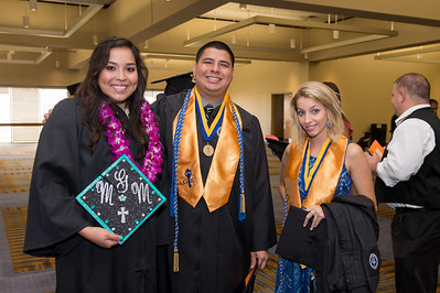College of Education graduatesGabriela Martinez(left) Pedro Martinez and Julia Hebert. Saturday August 8 2015, during the TAMU-CC Summer Commencement ceremony.