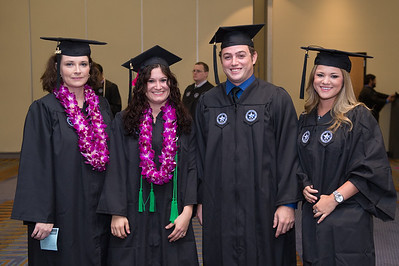 College of Business graduated Angela Anderson(left), Caitlin Shedd, Carl Messina, Hanah Rohlack. Saturday August 8, 2015 at the TAMU-CC Summer Commencement ceremony.