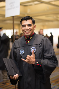 SSGT Pete Garcia during the TAMU-CC Summer Commencement ceremony on Saturday August 8 2015.