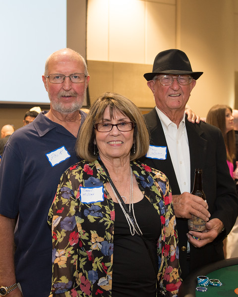Edgar De La Garza/Texas A&M Univeristy Corpus Christi<br /> Rick Wilson(left) Carol Wilson and Paul Wilson at the TAMU-CC Casino Night Athletic Fundraiser, Saturday August 08, 2015.