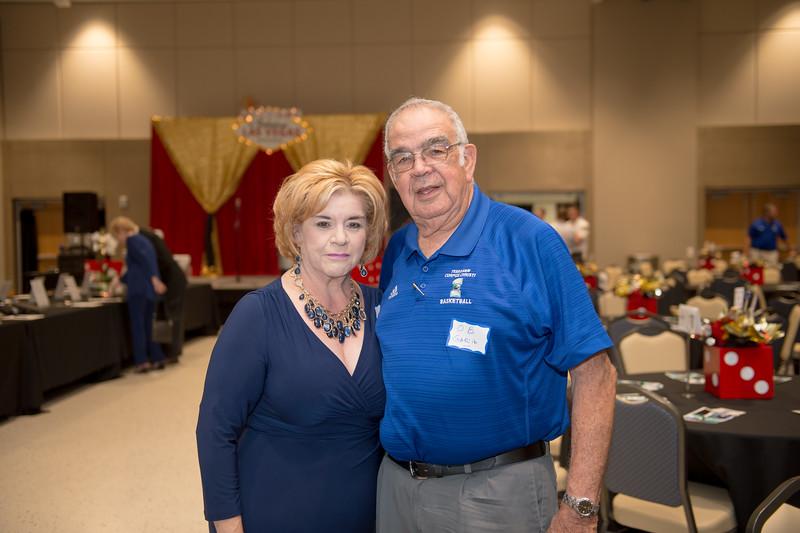 Edgar De La Garza/Texas A&M Univeristy Corpus Christi<br /> Patricia Castillo and O.B. Garcia at the TAMU-CC Casino Night Athletic Fundraiser, Saturday August 08, 2015.