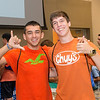 Connor Stancil and Michael Neal during New Student Orientation, Monday August 10, 2015.