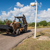 Work vehicle makes it way along the Dugan Trail to