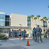 ROTC practices and demonstrates repelling from the roof of the Center for Science and invites civilians to participate